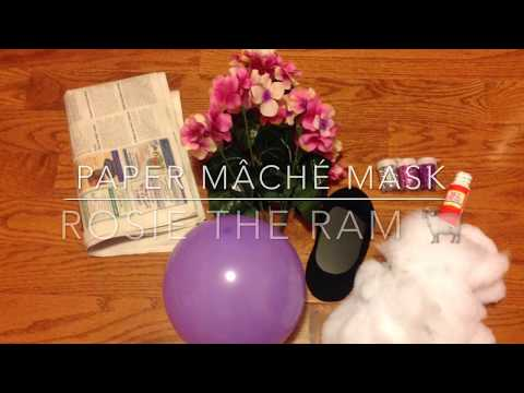 Making a Paper Mâché Mask