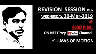 Download NEET 2019 Preparation - Laws of Motion - Vaqqar Sir | AIIMS | Physics Lectures Video
