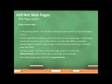 Asp .net 4 5 -  Web Pages Razor Layouts and Folders