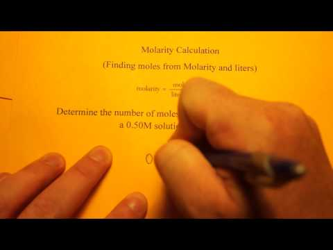 Molarity Calculation (moles from molarity and liters)