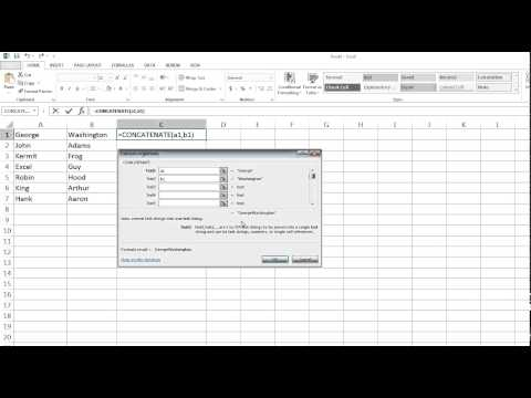 Excel Formula Concatenate: Merging Multiple Values into a Single Cell