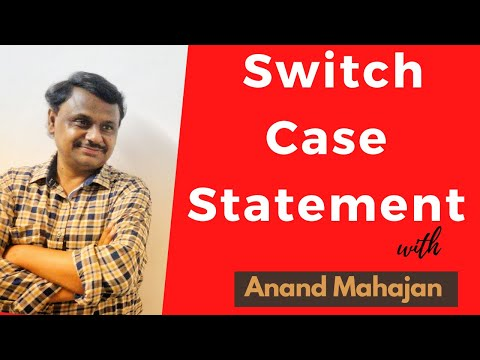Switch Case statement .... Best Decision making construct for menu driven programs