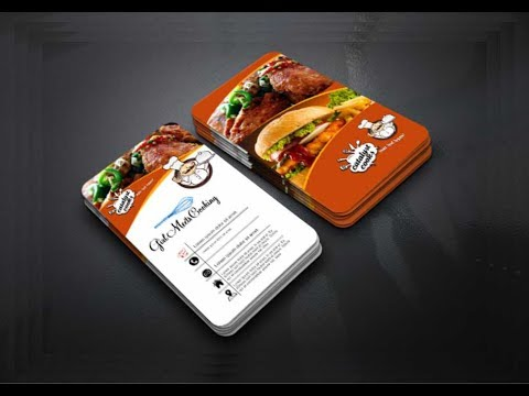 Make Restaurant Card in CorelDraw x7 Tutorial  with AS GRAPHICS