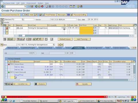 SAP MM: how to enter vendor discount