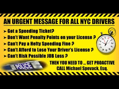 Speeding Ticket in New York City | Should I Get a Lawyer? | Save Money & Time | Stay Out of Jail