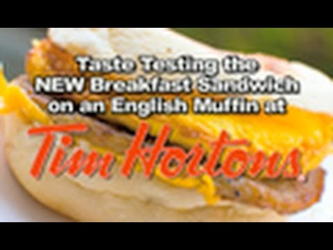 Tim Hortons - English Muffin Breakfast Sandwich Review | KBDProductionsTV