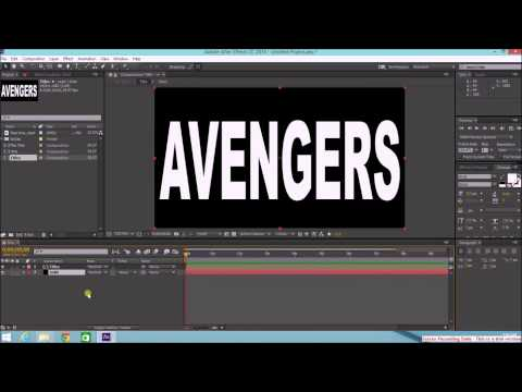 How to Make a Video Inside a Text - After Effects