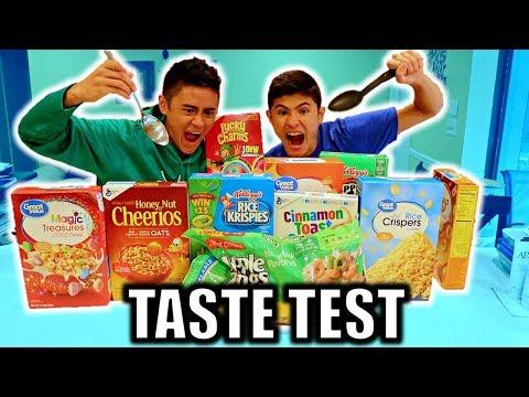 CEREAL TASTE TEST CHALLENGE *PRANK* (NAME BRAND vs GENERIC)