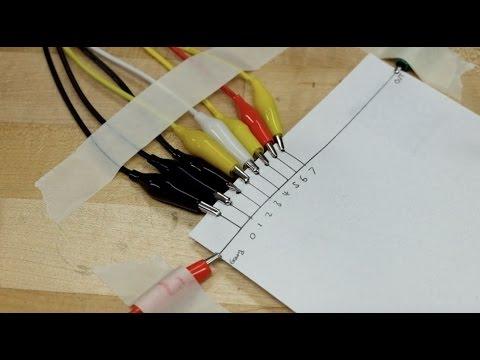 DIY Arduino Paper R2R Ladder DAC 8 bit