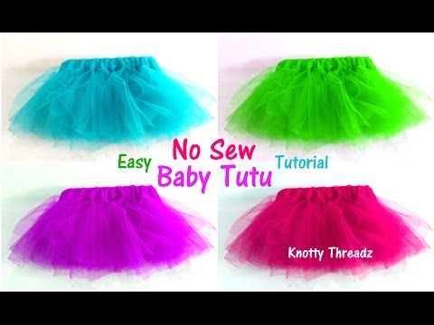 Tutu Skirts | How to make a No Sew Tutu for Babies | Easy | Pretty | Tutorial | Knotty Threadz