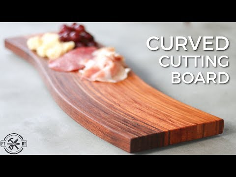 DIY Curved Cutting Board   Bent Wood Lamination How to