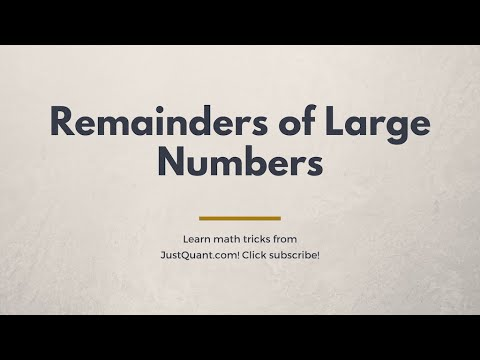 How to find Remainders - Using Fermat's little theorem and Euler's Theorem