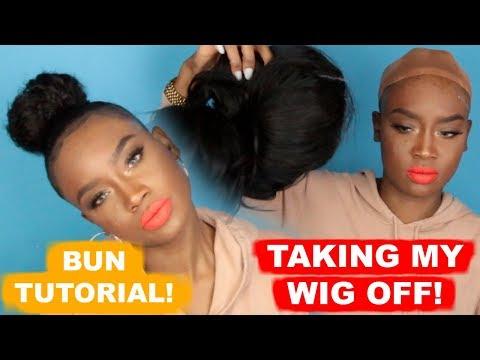 Watch me TAKE OFF this WIG! | BUN TUTORIAL + BABY HAIRS