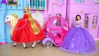 Princess Snow white Rapunzel Castle Bedroom Morning Dress up Gaun boneka Putri Vestido de Princesa
