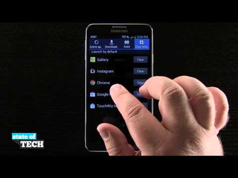 Samsung Galaxy Note 3 Tips - Clear App Defaults