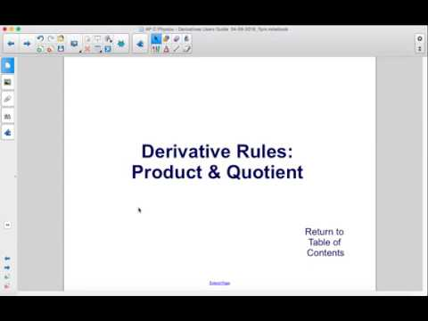 AP Physics C Calculus Derivatives Product and Quotient Rules