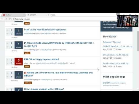 Diablo 3 ROS Editor UPDATE(New Site)