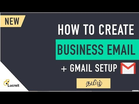 How to create Free Business email and Use it with Gmail | Tamil