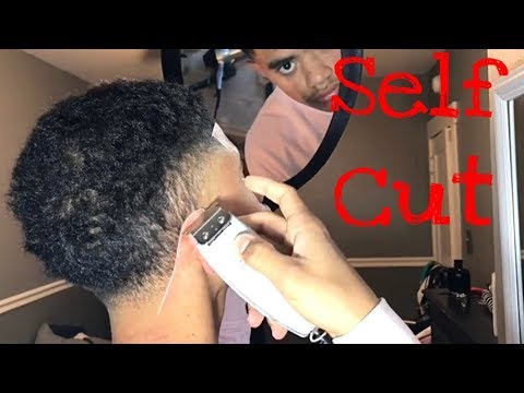 Self Cut Wavy Hair (High-Taper)