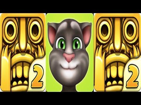 My Talking Tom Level 329 Vs Temple Run 2,Scaltet Fox, Gameplay make for kid #80