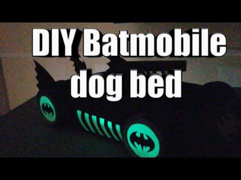 DIY Batmobile dog bed