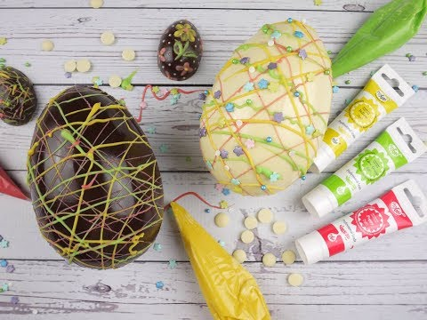 Easy Way To Colour Chocolate and Decorate Easter Eggs