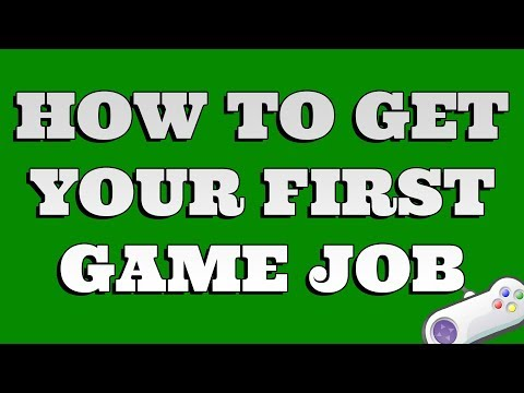 How do I get my first game job in Unity?