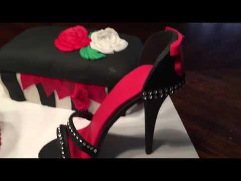 Stiletto, Purse & Shoe Box Cake