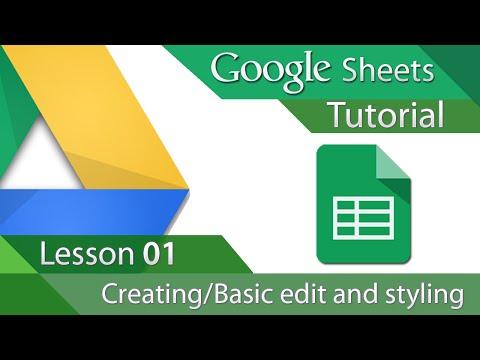 Google Sheets - Tutorial 01 - Creating and Basic Formatting