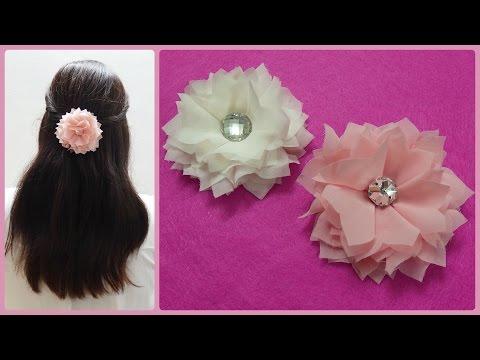 DIY Chiffon flower, wedding flower accessoire