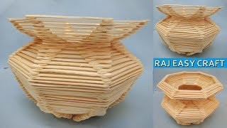 How to make ice cream stick  Gagri ||  popsicle stick crafts || Ideas ||Diy