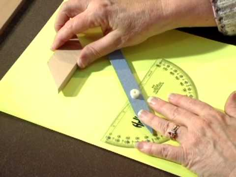 APH Braille / Print Protractor:  Part 13, Measuring the angles of 2-D Manipulatives