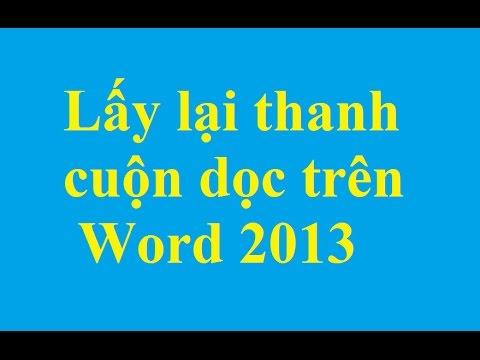 Lấy lại thanh cuộn dọc đã mất trên Word 2013 - http://taimienphi.vn