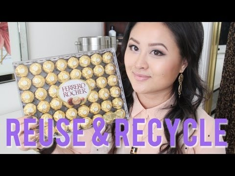 DIY Jewelry & Makeup Storage with Ferrero Rocher Containers