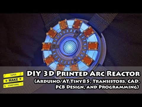 DIY 3D Printed Arc Reactor - Arduino, Transistors, CAD, PCB Design, Programming || How To Iron Man