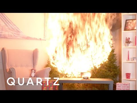 When Christmas trees catch fire