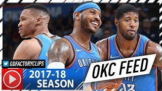Russell Westbrook, Carmelo Anthony & Paul George BIG 3 Highlights vs Warriors (2017.11.22) - EPIC!