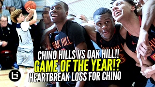 Chino Hills VS OAK Hill Academy EPIC GAME! Chino Hills 1st LOSS IN 2 YEARS! Jesser & Kris Sighting!
