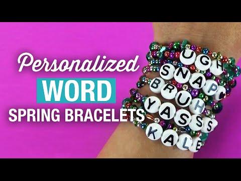 Make DIY Personalized Word Spring  Bracelets