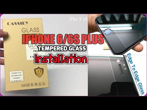 Cassiey Tempered Glass For iPhone 6/6s Plus Unboxing & Review (INDIA)