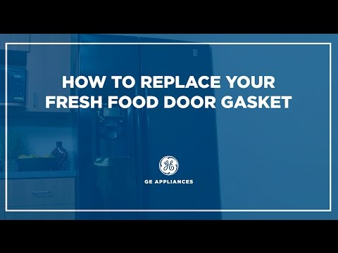 Side by Side Refrigerator Gasket Installation - Fresh Food Door