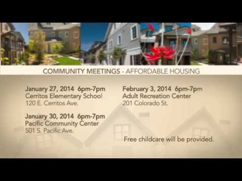 Affordable Housing Community Meeting Promo - Spanish