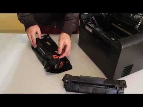 How To Replace Toner Cartridge CE278A/CRG128 To HP/Canon Printers