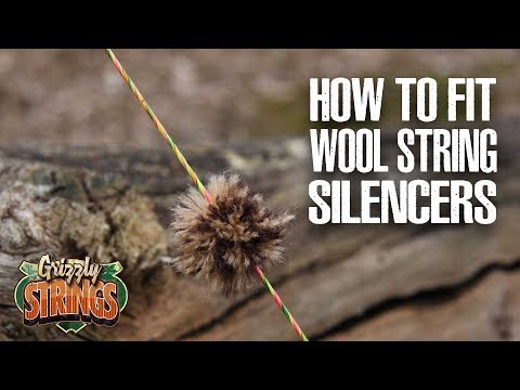 How to fit wool String Silencers - Traditional Archery
