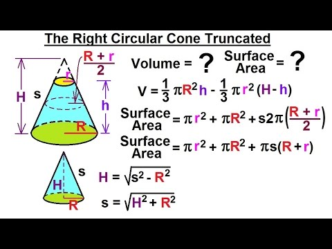 Geometry: Ch 4 - Geometric Figures (16 of 18) The Right Circular Cone Truncated