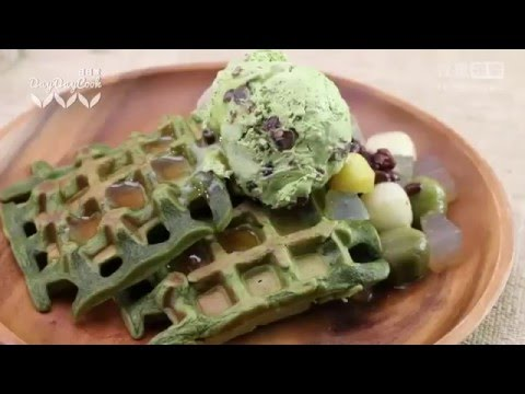 how to cook green tea waffle