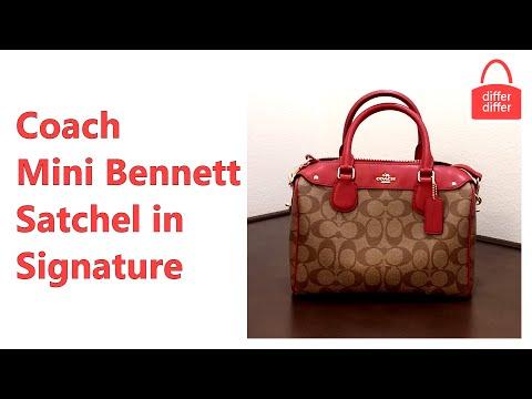 Coach Mini Bennett Satchel in Signature 36702
