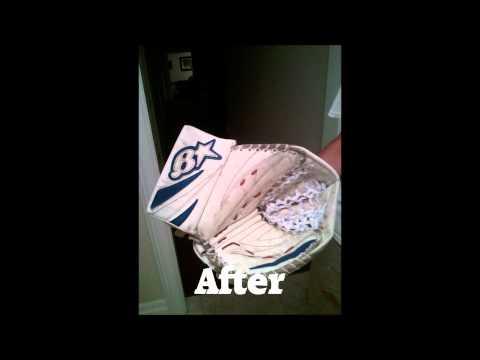 Painting Hockey Goalie Glove and Blocker