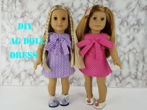How to Sew an A-line Dress for American Girl Doll- Free Patterns