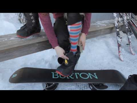 Ski Butternut: How to Put on Snowboard Boots/Board